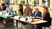 SCREENSHOT: PPS.NET - Portland Public Schools board member Mike Rosen (center) at the May 17 board meeting.