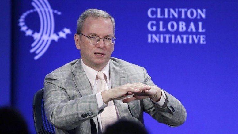 Eric Schmidt, CEO of Alphabet, Inc. and member of the Trilateral Commission (Wikileaks)