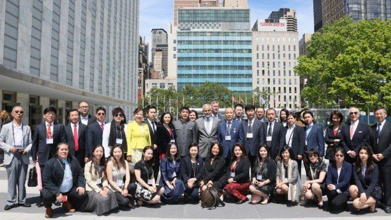 The participants took group photo at UN after the meeting (PRNewsFoto/FiSO Group, LLC)