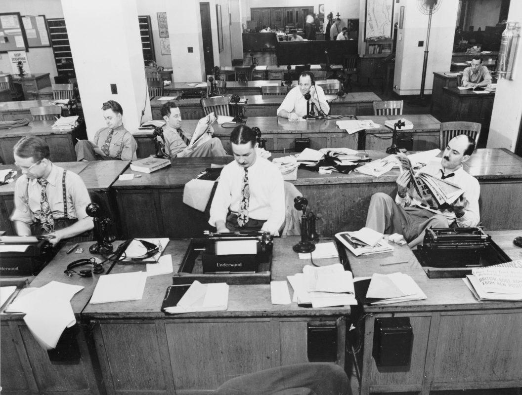 NYT newsroom in 1942