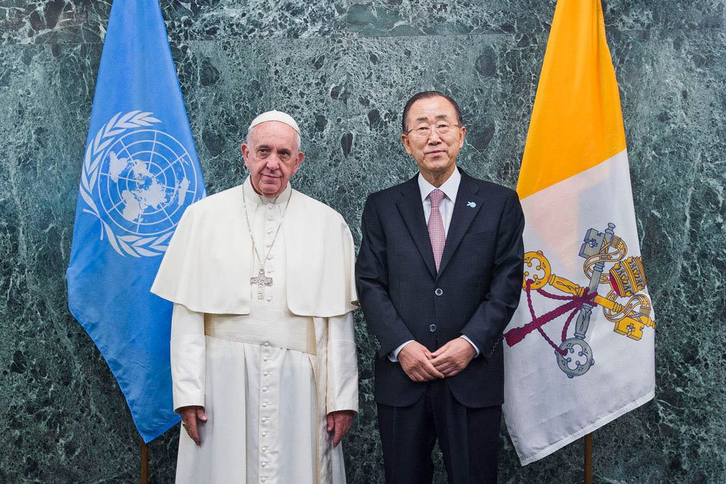 Pope arrives at United Nations Headquarters