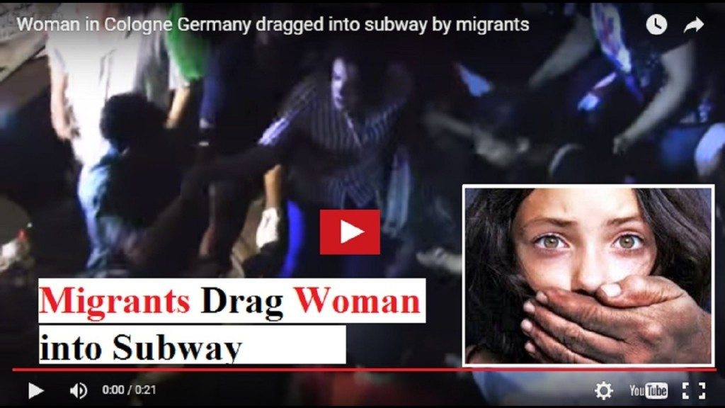 German woman dragged into subway