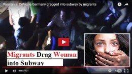 German woman dragged into subway