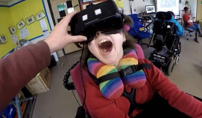virtual reality warning