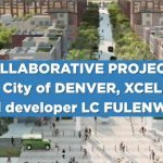 Modell Smart City namens Pena Station in Denver gebaut