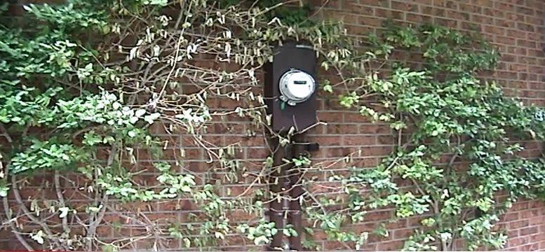 smart meter on wall