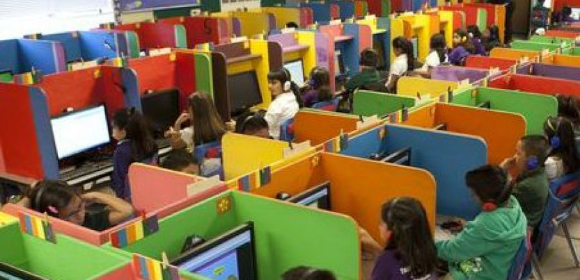 kids in cubicles
