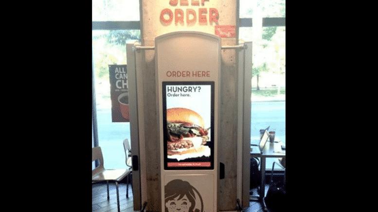 Wendy's kiosk