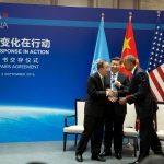 Trump ist sich nicht sicher, ob Amerika aus dem Pariser Klimaabkommen austritt