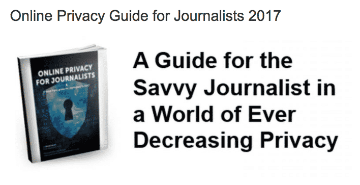 Privacy guide for journalists