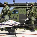 Applicazione della legge floccaggio ai droni per combattere il crimine