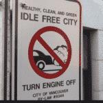 Grüner Wahnsinn: Prima, wenn Sie in Vancouver, BC, im Leerlauf fahren