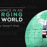 Den trilaterale kommissær George Shultz taler om den nye verdensorden