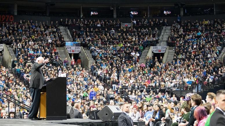 Bernie Sanders rally in Portland
