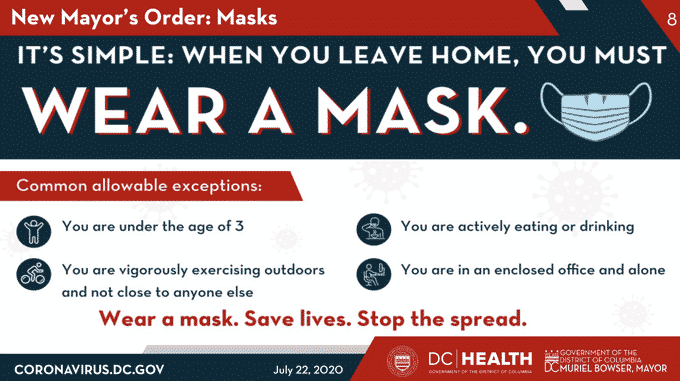$$ DC Mayor: $1,000 Fine For Not Wearing Mask Outside Home $$ Dc-wear-a-mast