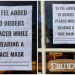 California Cafe: $5 Surcharge For Wearing A Mask
